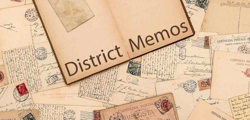 district memos image