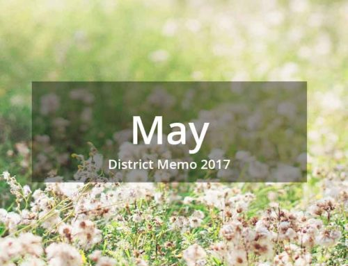 District Memo – May 2017