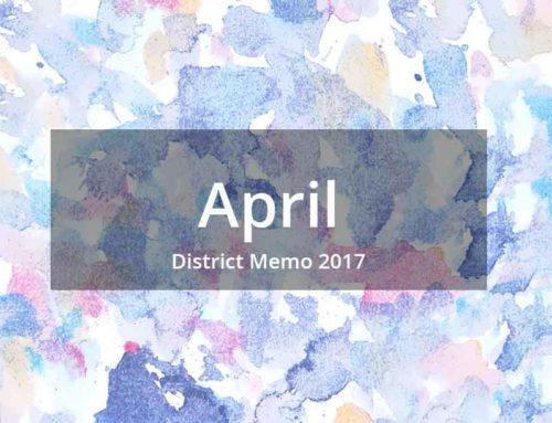 District Memo – April 2017