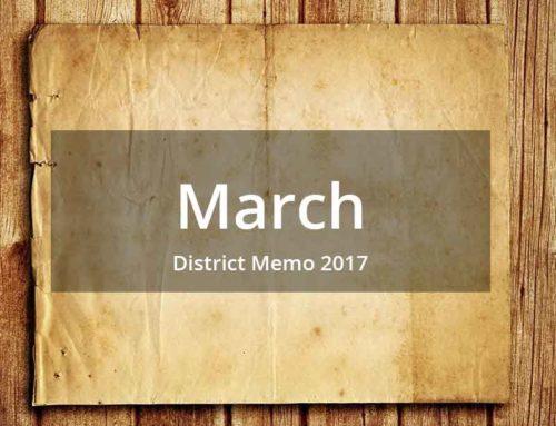 District Memo – March 2017