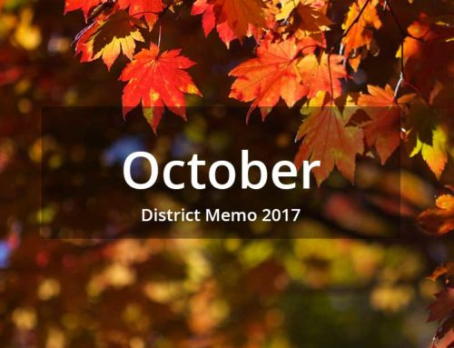 District Memo – October 2017