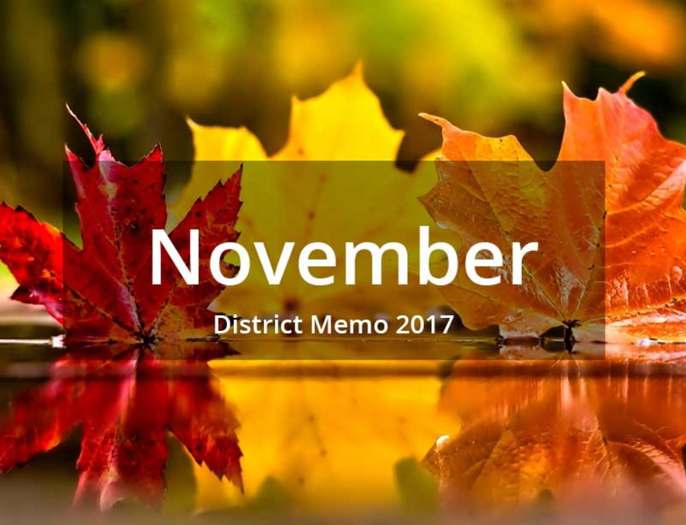 District Memo – November 2017